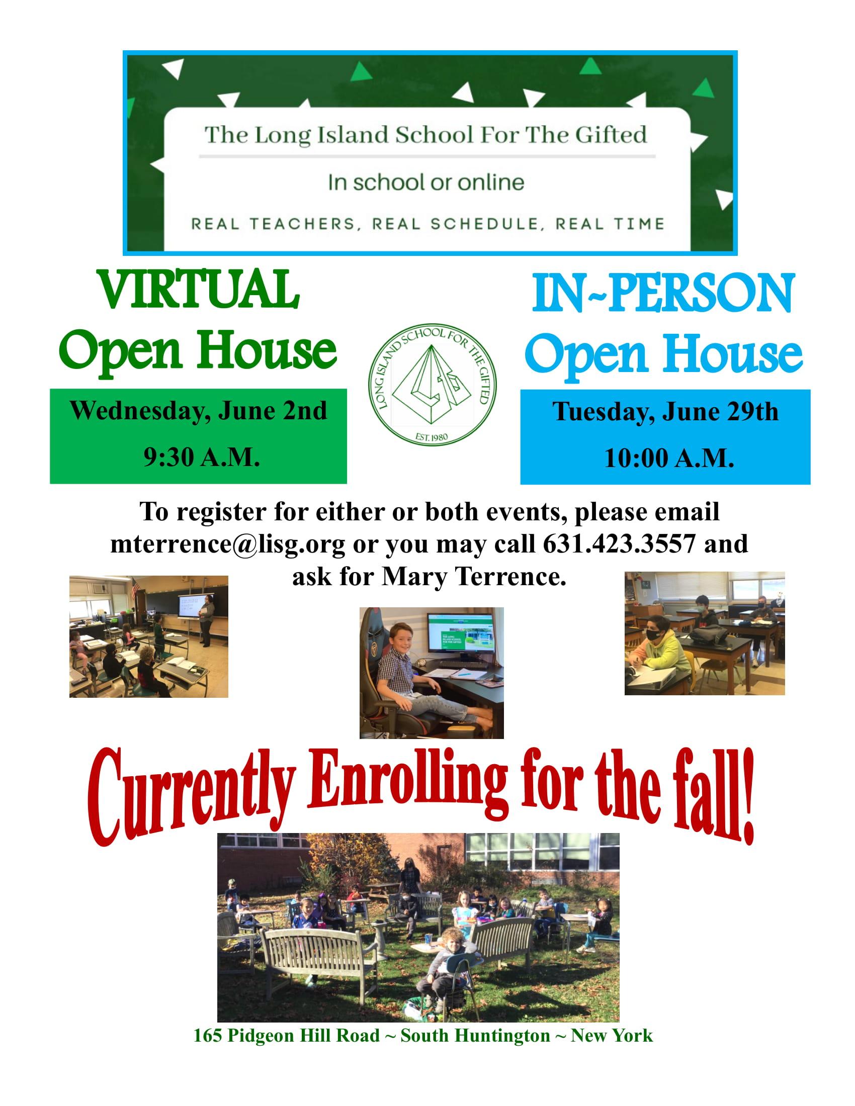 Open Houses Flyer June 2 and June 29-1